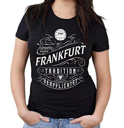 Mein leben Frankfurt Girlie Shirt | Freizeit | Hobby | Sport | Sprüche | Fussball | Stadt | Frauen | Damen | Fan | M1 Front (S)