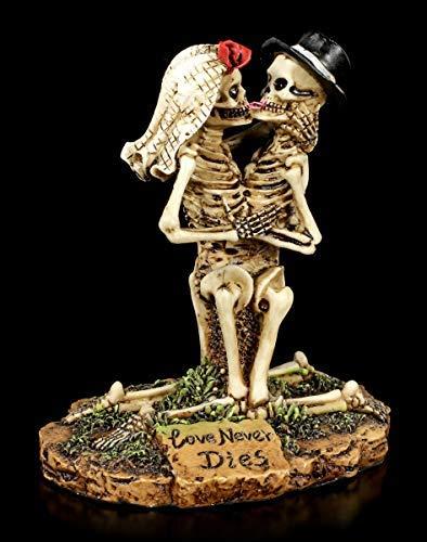 hic-Brautpaar Figur - Love Never Dies | kniendes Skelett Gothic-Brautpaar Figur - Love Never Dies ()