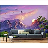 Mountain Sunset Bird Group3D Wallpaper Stereoscopic Living Room Sofa Tv Background Home Decor Wall Murals Background Wall Environmental Protection Waterproof Material