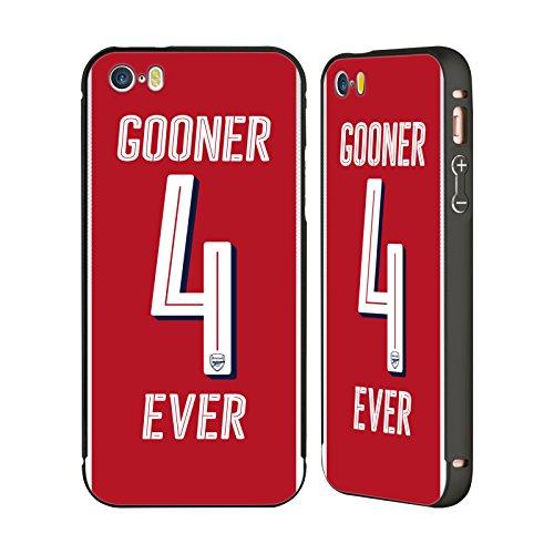 Ufficiale Arsenal FC Siate Fieri Gooners Nero Cover Contorno con Bumper in Alluminio per Apple iPhone 6 Plus / 6s Plus Per Sempre