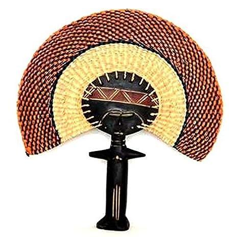 AFRIQUE ART DECORATION -Eventail poupée Ashanti EVPA2