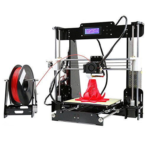 Anet A8 3D Drucker Kit, 3D Printer Edelstahl mit MK8 Düse 220 x 220 x 240 mm ABS/PLA/Holz/PVA/PP Unterstützt