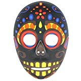 Hommes Mexicain Day Of The Dead Tête De Mort Calavera Masque - Noir