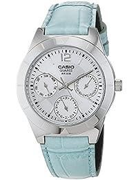 Casio Reloj Multiesfera para Mujer de Cuarzo con Correa en Piel LTP-2069L-7A2VEF
