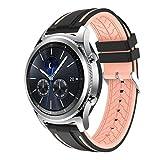 Ansenesna Sport Bracelet Smartwatch Silikon Armband Fitness Tracker Runtastic für Samsung Gear S3 Classic Wasserdicht (Rosa)