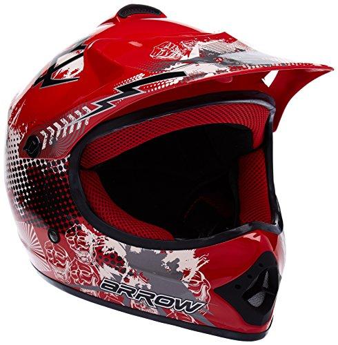 arrow-akc-49-red-sport-cross-bike-racing-bambino-off-road-scooter-casco-moto-cross-junior-kids-helme