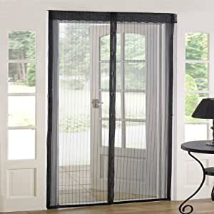 Emma Barclay Magnetic Insect Door Screen Curtain Panel, Black, 90 x 210 Cm