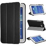 tinxi® PU piel funda para Samsung Galaxy Tab 3 Lite T110 T111 T113 T116 7 pouces (17,78 cm) popular y nuevo con el negro fondo(no es adecuada para Tab 3 7.0 T210 T211)