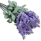 Acquista 1x 10 Heads Artificial Lavender Silk Flower for Bouquets Wedding Home Party Decor (Light Purple) by Broadfashion