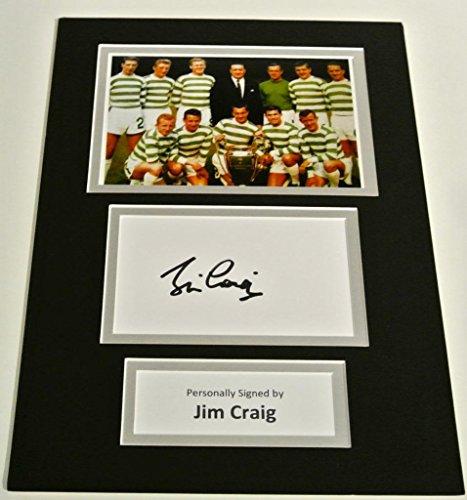 Sportagraphs-Jim-Craig-SIGNED-autograph-A4-Photo-Mount-Display-Celtic-Lisbon-Lions-COA