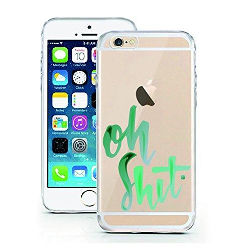 iPhone 7 Hülle von licaso® für das Apple iPhone 7 aus TPU Silikon Muster Attitude is Everything XOXO Style Fashion Design ultra-dünn schützt Dein iPhone 7 & ist stylisch Schutzhülle Bumper in einem (i oh Shit.
