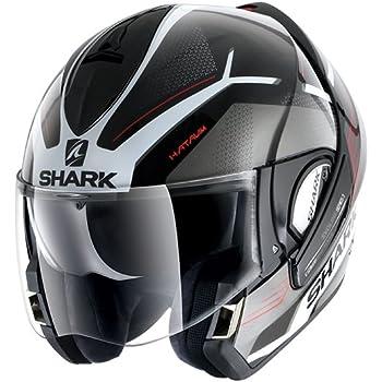 Schwarz Gr/ö/ße L Shark Motorradhelm Hark Evoline 3 Hataum Mat