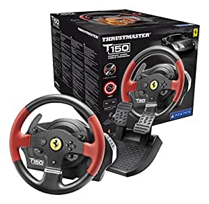 thrustmaster volant t150 ferrari force feedback ps4 ps3 pc jeux vid o. Black Bedroom Furniture Sets. Home Design Ideas