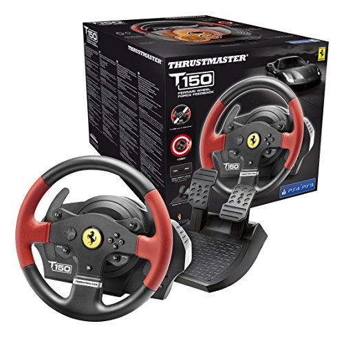 Thrustmaster T150 Ferrari Force Feedback Wheel (PS4/PS3/PC DVD) - [Edizione: Regno Unito]