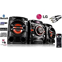LG Mini HiFi System CM4360 (SGBRLLK) - Multi Bluetooth Wireless Powerful 230W RMS with CD /FM RDS / USB / Sound Sync for TV/ Auto DJ - Remote