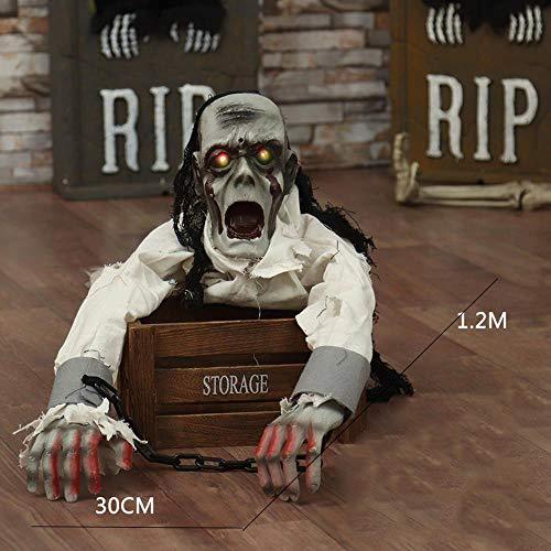 Lxj Halloween Ghost Festival Lieferungen Haunted House Bar KTV Dekoration Requisiten Terror dekorieren ganz knifflige erschrecken leichten elektrischen Crawl-Ghost (Elektrische Halloween Requisiten)