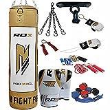 RDX MMA 17Pc & 13Pc Boxset 4ft 5ft Gefüllt Schweren Boxsack Handschuhe Bügel Ketten Boxsäcke Trainings