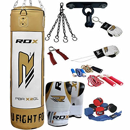 RDX-17Pc-13Pc-Boxing-Set-4FT-5FT-Filled-Heavy-Punch-Bag-Gloves-Bracket-Chains-MMA-Punching-Bags-Training