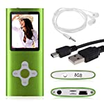 "FEITONG 8GB nehmen Digital-MP3 MP4 Player 1.8 ""LCD-Bildschirm FM Radio Video Games Film Kopfhörer USB-Kabel (Grün)"