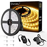 Onforu 5M Dimmable Ruban LED, Bande LED Lumineuse 300 LEDs, 3000K Blanc Chaud,...