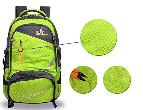 Neue multifunktionale Rucksack outdoor Bergsteigen Tasche wasserdicht Freizeit Reisetaschen Black