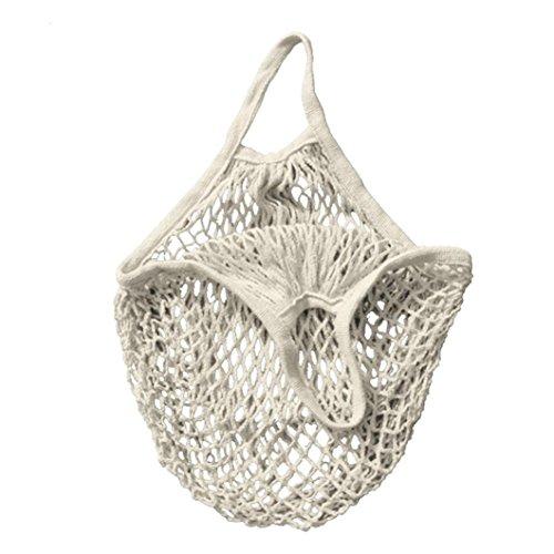 VENMO Mesh Net Turtle Tasche String Einkaufstasche Wiederverwendbare Obstlager Handtaschen Totes Neu (White) (Jute-netzgewebe)
