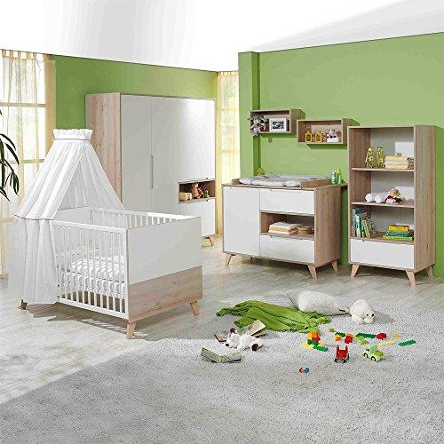 Geuther Mette - Kinderzimmer 3-teilig - Buche, weiß/natur