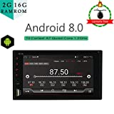 2G RAM 16 G ROM Double din with GPS Navigation Android 8.0 car