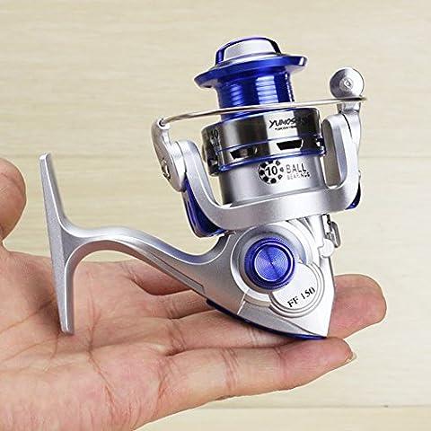 Hysenm Moulinet Pêche Ultraléger Mini frein Avant Multi-disques Puissant Précis Doux Progressif Bobine Conique MN150