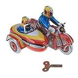 Moto Avec Side-car à Ressort Mécanisme Jouet De Collection Cadeaux ...