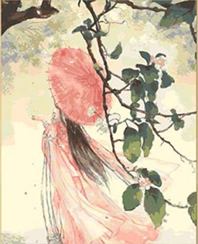 Das Shanghai Alte Kostüm - Handgemaltes Ölgemälde Alten Kostüm Hanfu handgemalte Färbung Bild Mädchen Schlafzimmer altes Mädchen Digitale Malerei warten