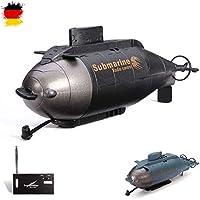HSP Himoto RC teledirigido Mini Submarino, Juego Completo con integr. Batería, Cargador, Control Remoto