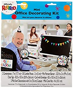 Amscan International-241858kitdec Kit Oficina Mini jubilado