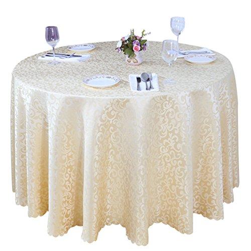 Heheja jacquard damascata tovaglia rotonda albergo ristorante tovaglia beige 180cm
