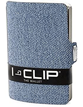 I-CLIP Aspecto Jeans Cartera Delgada (disponible en 2 colores)