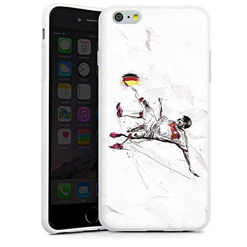 Apple iPhone X Silikon Hülle Case Schutzhülle Fußball Zeichnung sport Silikon Case weiß