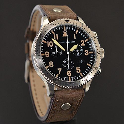 Messerschmitt ME 5030 Vintage - Reloj para hombres, correa de cuero