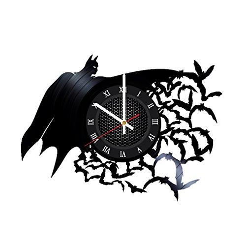 Ma Va Batman Arkham Asylum Vinyl Schallplatte Wanduhr Geschenk für Fans Tolle Idee Home Decor DC Comics Vintage Dekoration-Kaufen Geschenk für Alle (Eigenen Batman-kostüm Ihre Sie Machen)