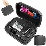 CamKix Funda para GoPro Hero 4/3+/3/2/1 y Accesorios - Ideal para Viajar o guardar en Casa - Completa Proteccion para su camara GoPro - Paño de Microfibra para limpiar Inlcuido (pequeño, negro)
