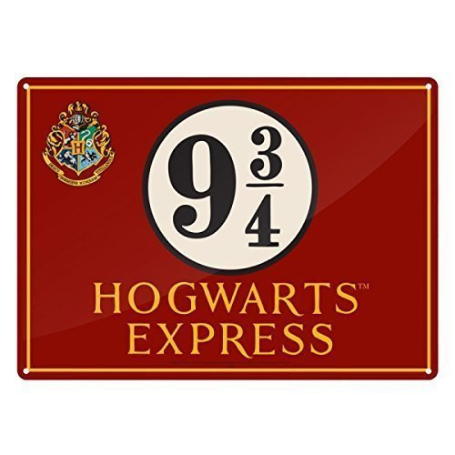 Harry Potter ~ Petit panneau plaque murale/(en métal/étain) ~ Poudlard Express