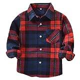 Jungen Hemden Baumwolle Plaid Tops - Juelya Classics Plaid Hemden Langarm Sweat Shirt für Jungen 2-14 Jahre