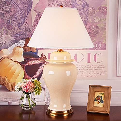 505 HZB Amerikanische Kupfer Keramik Tischlampe Wohnzimmer Schlafzimmer Studio Tischlampe (Size : L 48 * 82 cm) -