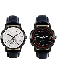 Kairos Designer Stylish New Collection Watch Combo With Round Dial And Leather Belt (Pack Of 2)