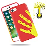 SOUNDMAE Case For iPhone 6/6s Plus 5.5' Cover Physical Color Changing Thermal Case Magical DIY Pattern Epoptic Heat-Sensitive Matte Surface TPU Back Cover for iPhone 6/6s Plus - Red Turn to Yellow