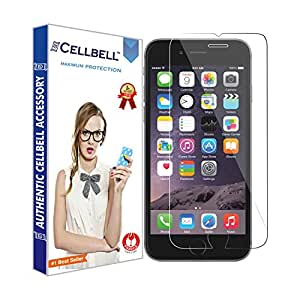 CELLBELL Tempered Glass Screen Protector for iPhone 7 with Installation Kit (Clear Transparent)