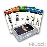 FitDeck Jeu de cartes d'exercice pour sauvegarde/équipement de fitness exercices, Homme