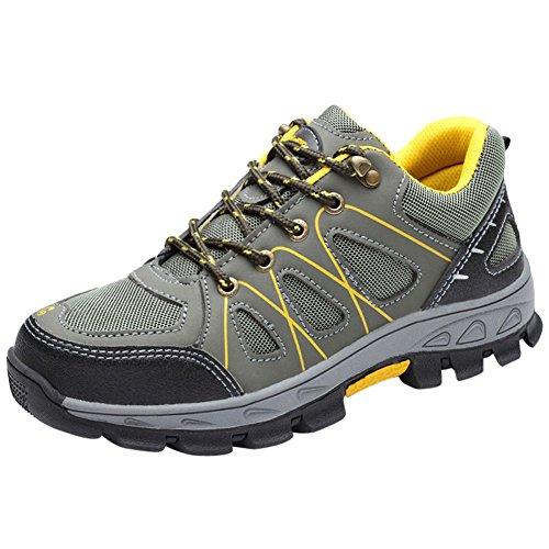 Sportive Scarpe Uomo da Lavoro Antinfortunistiche Acciaio Scarpa Sneaker Ginnastica Trekking Estive Verde Chiaro 41 EU