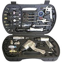 JBM 52331 - Kit herramientas neumáticas pistola y carraca neumática con accesorios
