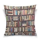 ALAZA Bibliothek Bücherregal Platz Dekokissen Fall Cotton Velvet Kissenbezug