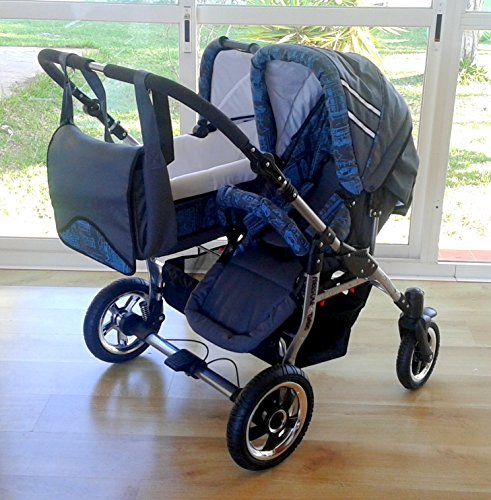 Gechwisterwagen Zwillingswagen. 2 x Buggy, 1 x Babywanne